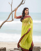 Amritha-Aiyer-in-transparent-saree-1