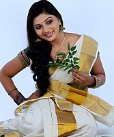 Sreelakshmi-Sreekumar-attractive-in-saree-1
