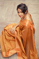 Subiksha-outdoor-photo-in-saree-2